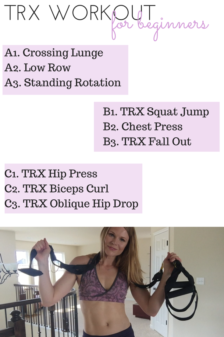 photograph relating to Printable Trx Workout referred to as At Household TRX Work out for Beginniners - Paige Kumpf