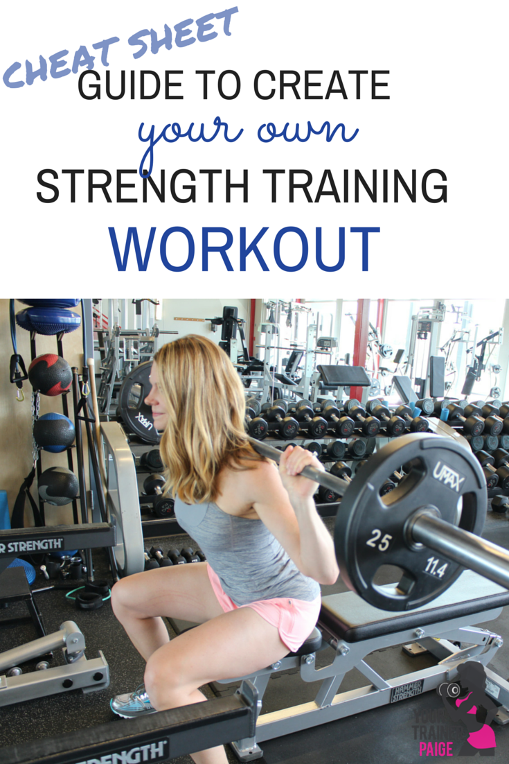 Guide to Create Your Own Strength Training Workout – Workout Training Sheet