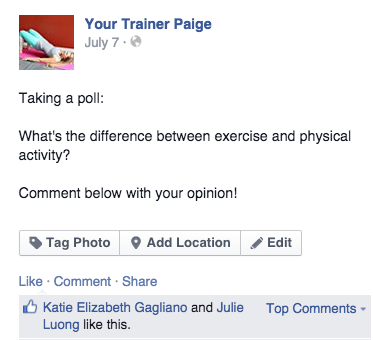 Exercise and Physical Activity: Whats the Difference