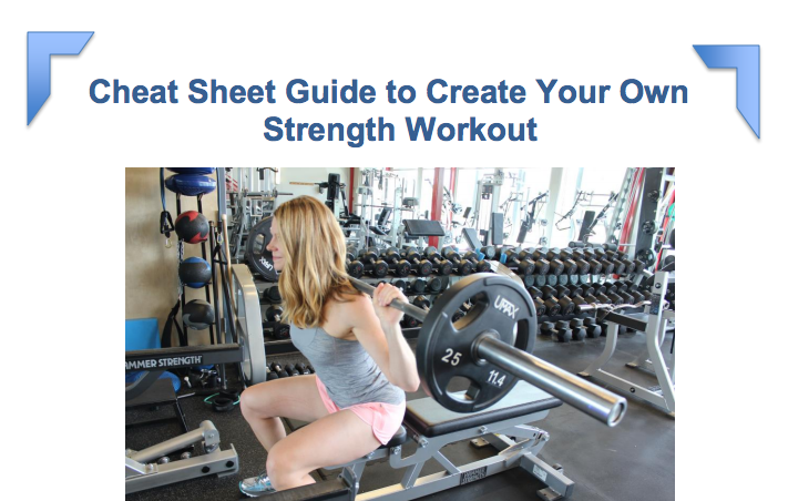Get your FREE Cheat Sheet to Build Your Own Strength Workout!