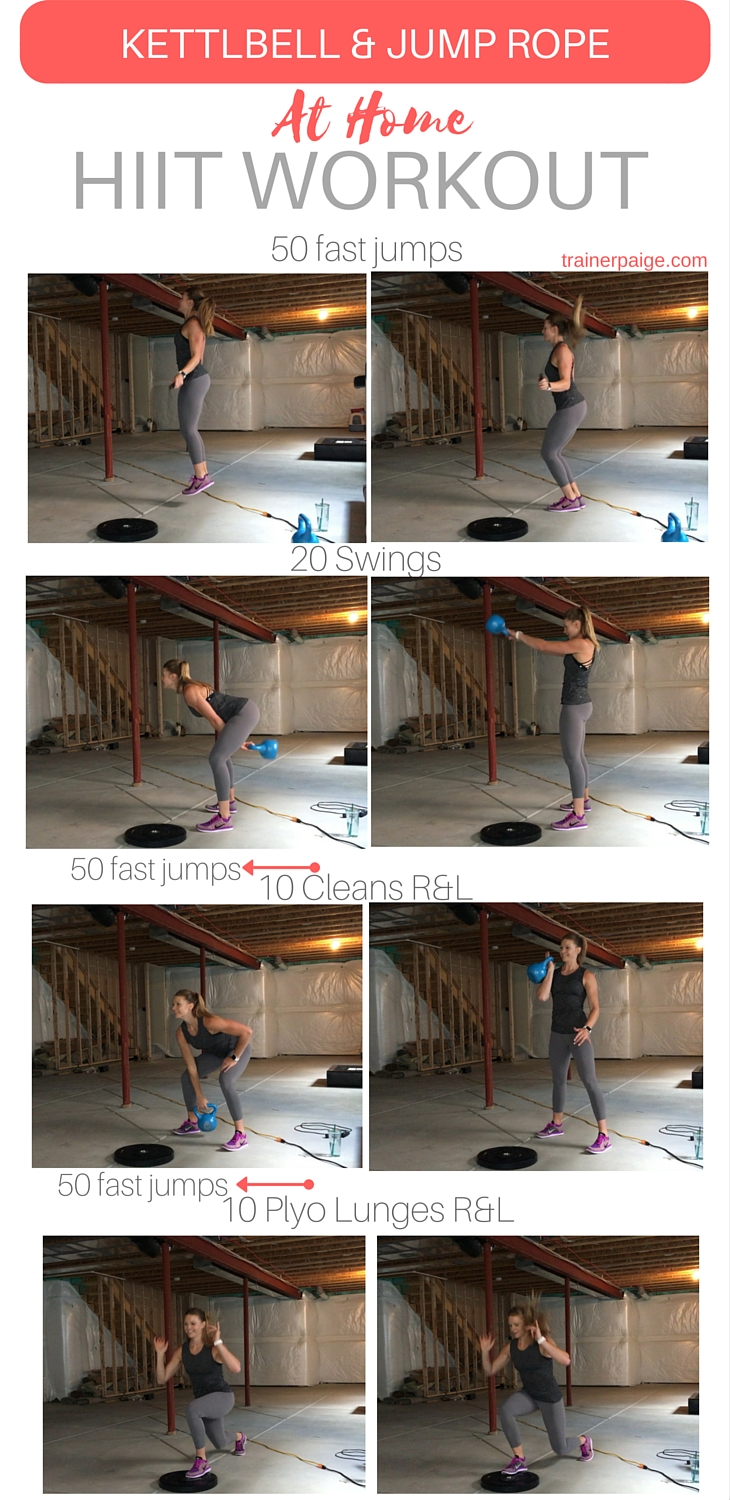 At Home Kettlebell and Jump Rope HIIT Workout