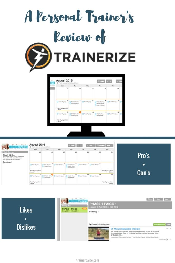 Trainerize Review from a Personal Trainer