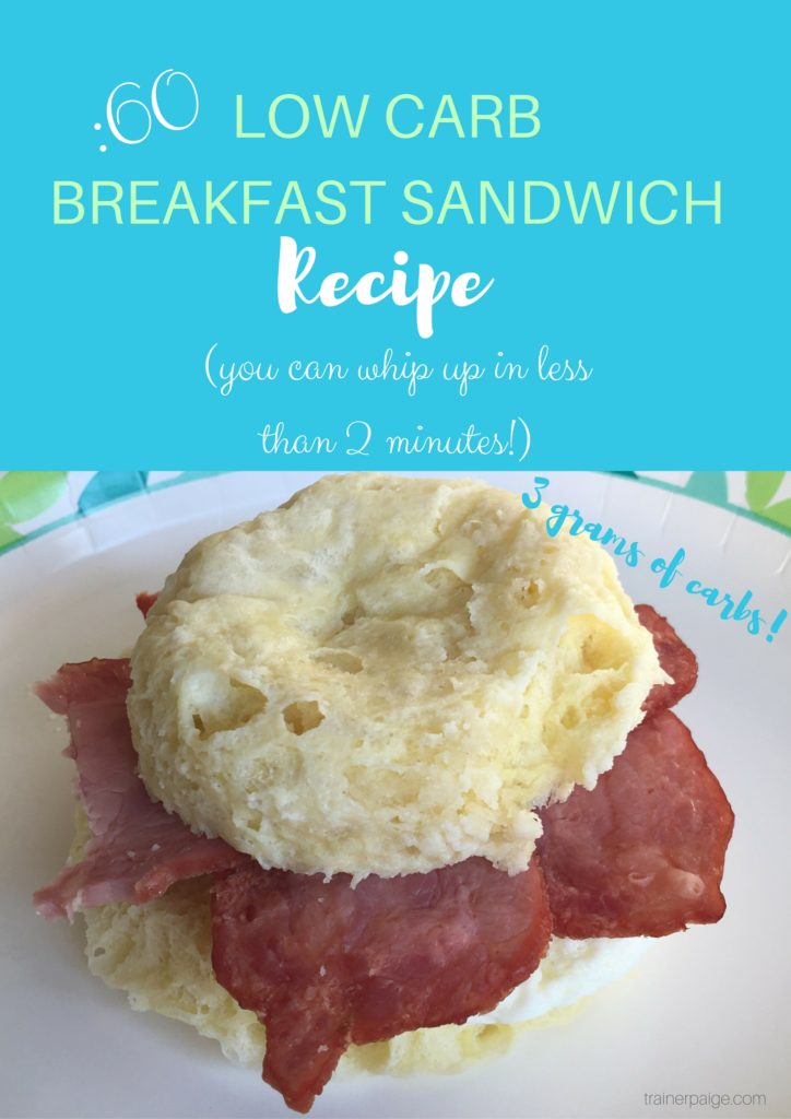 My New Favorite Low Carb Breakfast Sandwich Recipe (Less than 2 Minutes to Make!)